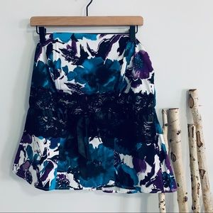Torrid Floral Foxy Tube Top with Lace Detail